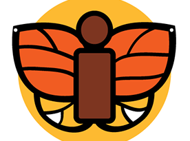 "symbol with an ""i"" and butterfly"