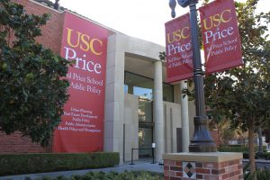 USC- Price Building w Banners